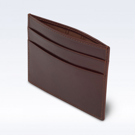 Chestnut Richmond Leather Slimline Card Slip Wallet