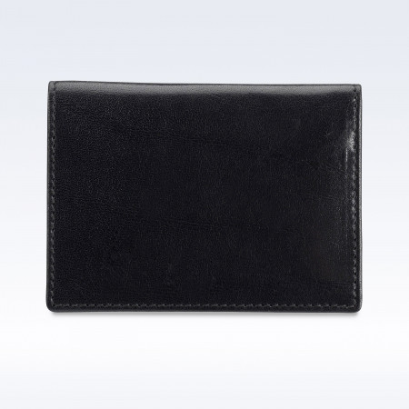 Black Richmond Leather Travel Card Holder