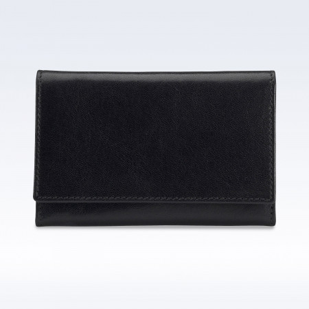 Black Richmond Leather Business Card Holder
