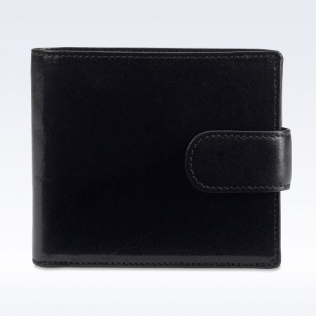 Black Richmond Leather Hip Wallet with Strap