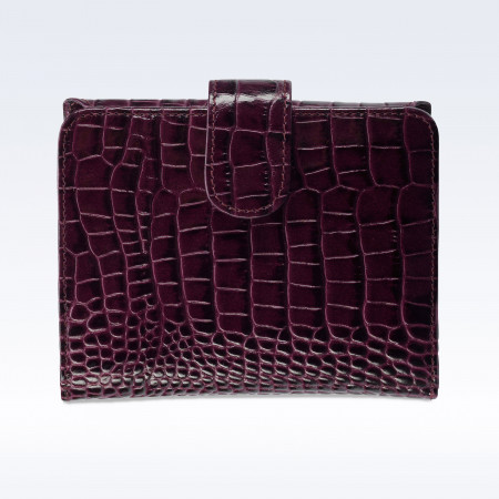 Purple Croc Leather Sophia Ladies Purse