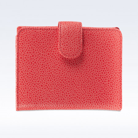 Coral Caviar Leather Sophia Ladies Purse