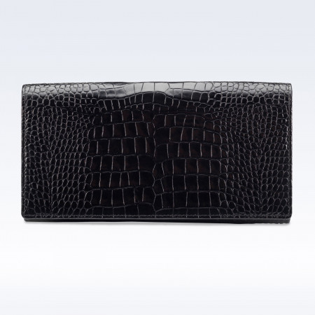 Richmond Ladies Purse in Black Croc Leather