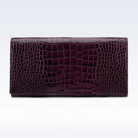 Richmond Ladies Purse in Purple Croc Leather