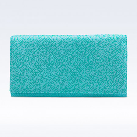 Richmond Ladies Purse in Aqua Caviar Leather