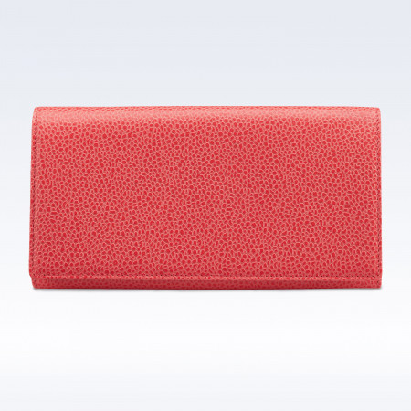 Richmond Ladies Purse in Coral Caviar Leather