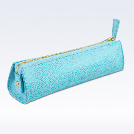 Aqua Caviar Leather Cosmetics or Stationery Case