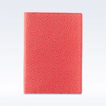 Coral Caviar Leather Travel Passport Wallet