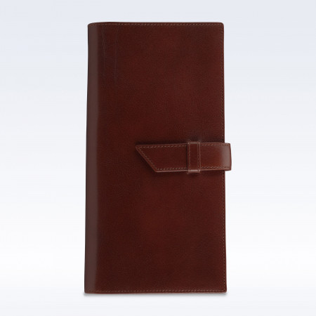 Chestnut Richmond Leather Deluxe Travel Wallet with Strap