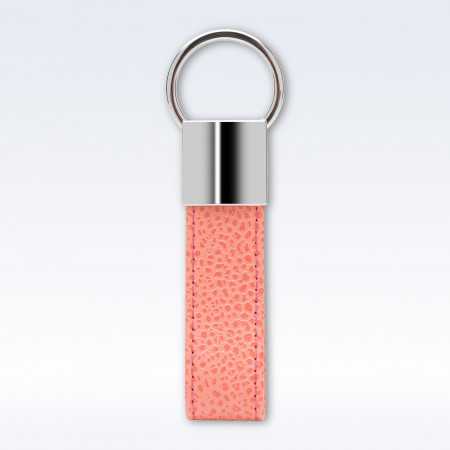 Coral Caviar Leather Looped Key Fob