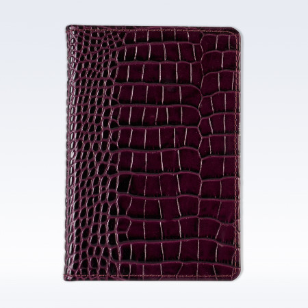 Purple Croc Leather A6 Pocket Notebook