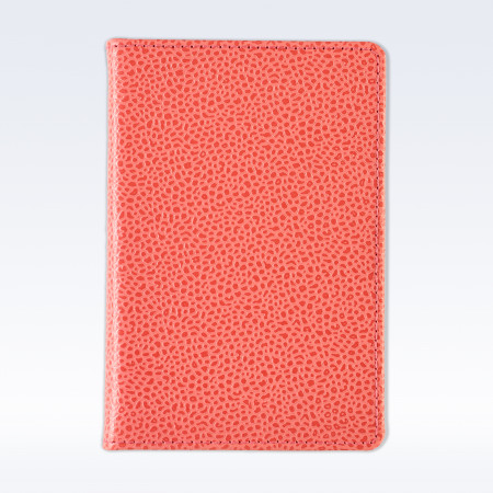 Coral Caviar Leather A6 Pocket Notebook