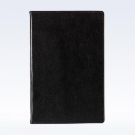 Black Richmond Leather A5 Notebook