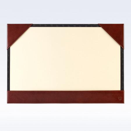Chestnut Richmond Leather A3 Desk Blotter