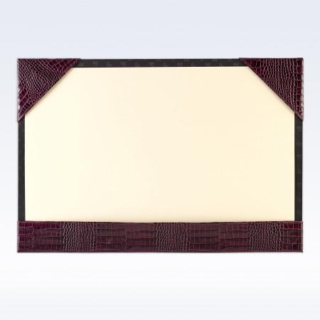 Purple Croc Leather A3 Desk Blotter