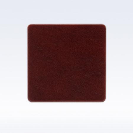 Chestnut Richmond Leather Square Coaster