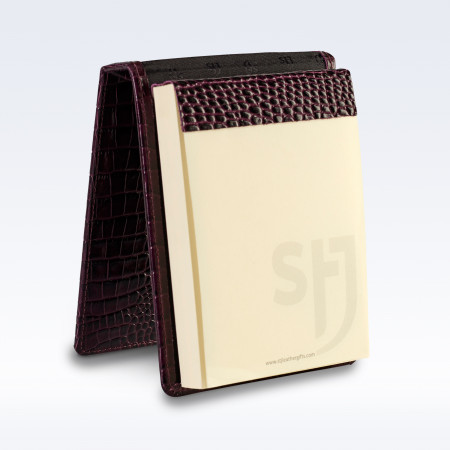 Purple Croc Leather Desk Jotter Note Pad