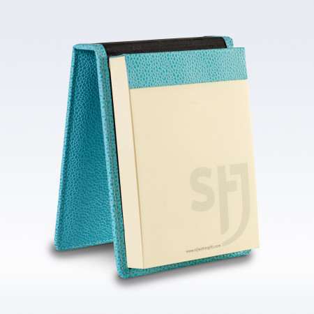 Aqua Caviar Leather Desk Jotter Note Pad