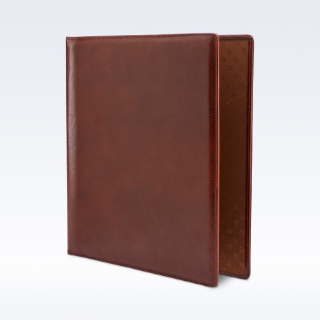 Chestnut Richmond Leather Storage Ring Binder