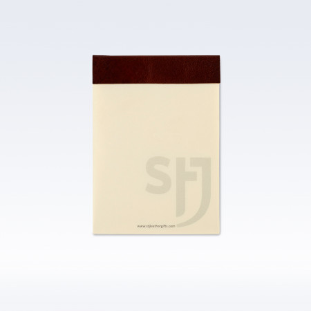 Chestnut Richmond Leather Trimmed Desk Jotter Refill Pad