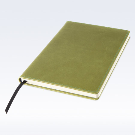 Spring Green Kensington Leather A5 Notebook