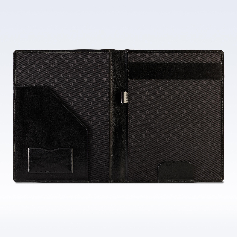 Black Richmond Leather Executive A4 Folder Home Amp Office