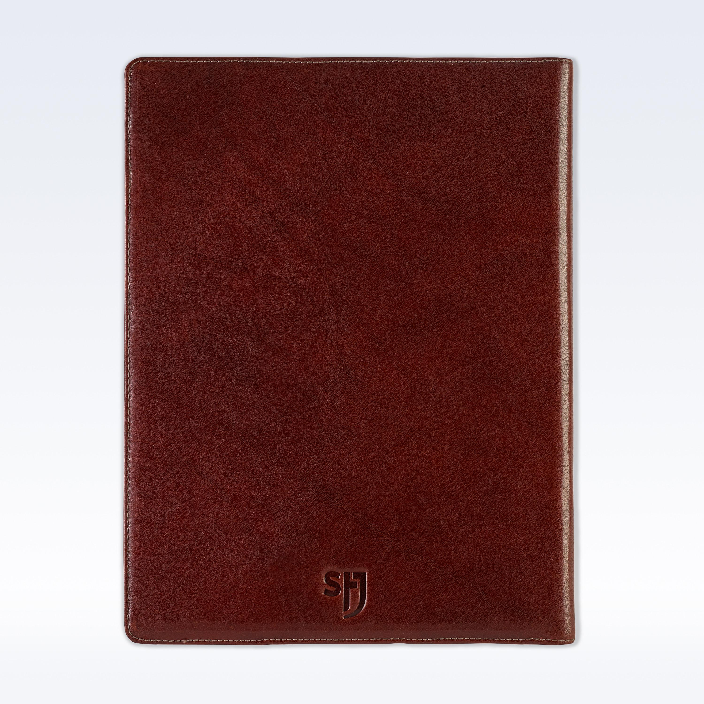 chestnut richmond leather executive a4 folder stj leather
