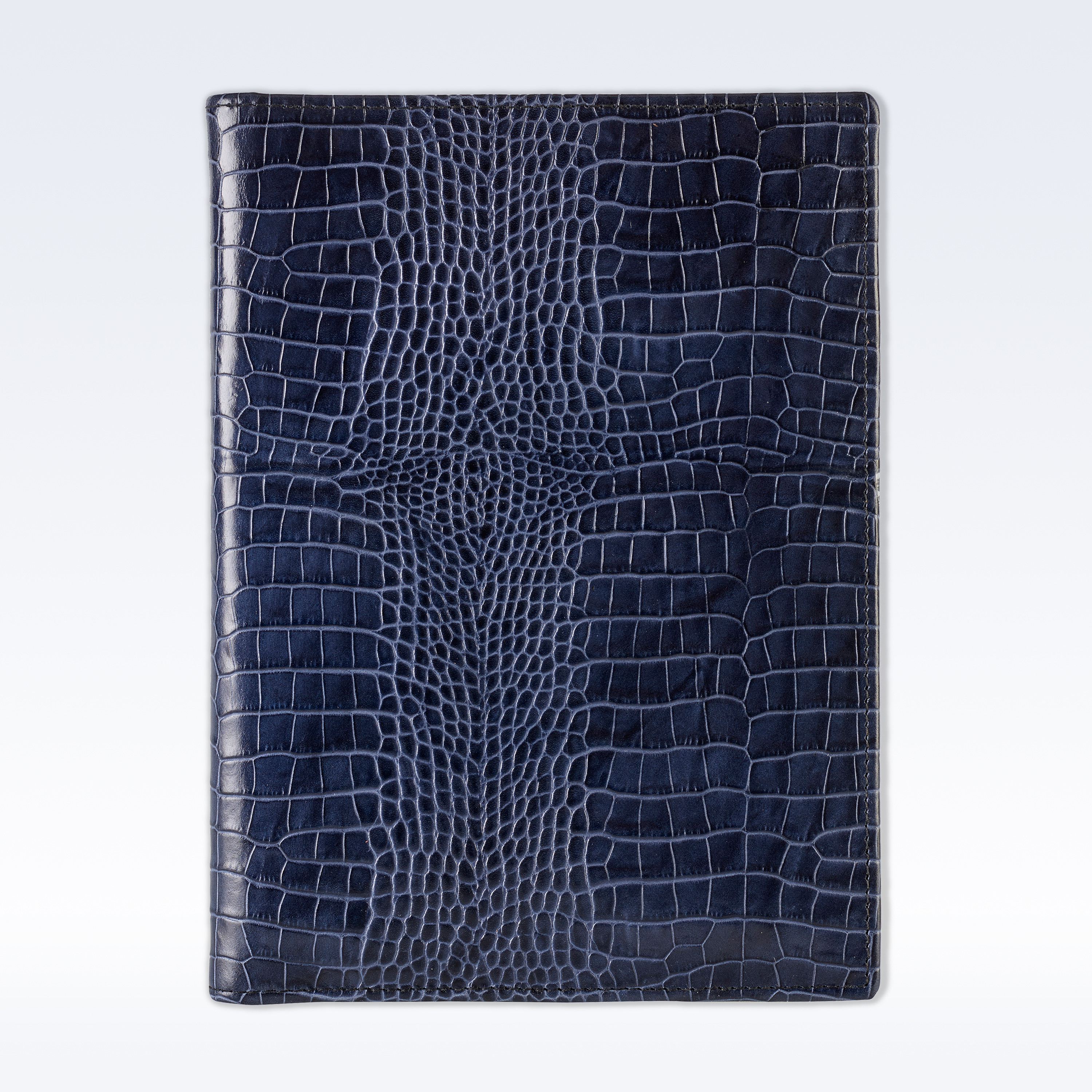 navy croc leather executive a5 folder