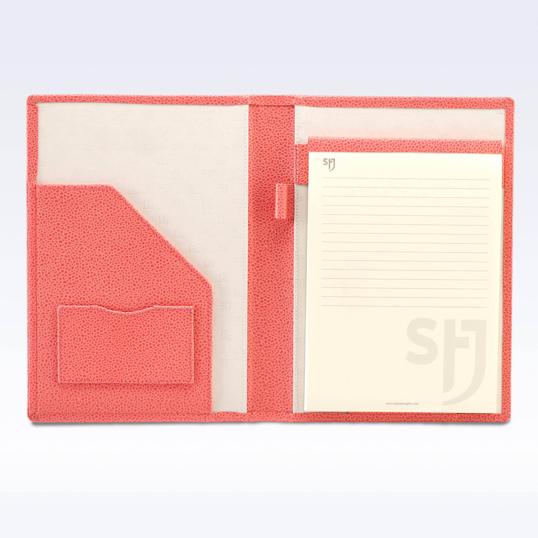coral caviar leather executive a5 folder - folders