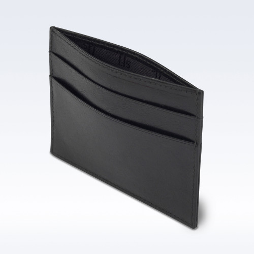 Black Richmond Leather Slimline Card Slip Wallet