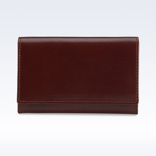 Chestnut Richmond Leather Business Card Holder