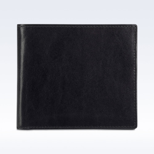 Black Richmond Leather Slimline Billfold Wallet