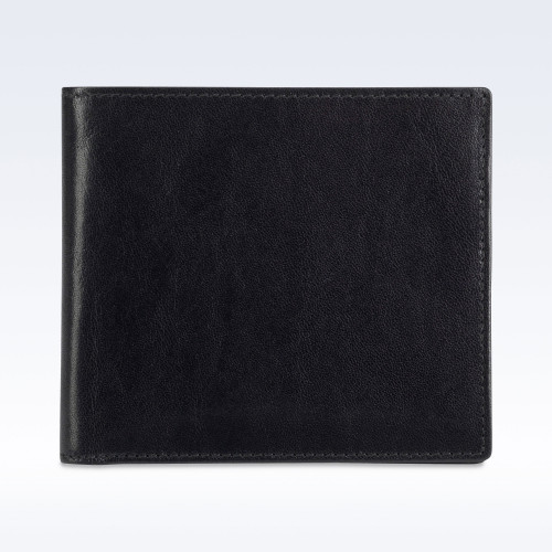 Black Richmond Leather Hip Wallet with Coin Pocket