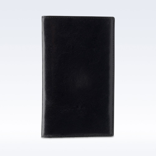 Black Richmond Leather Tall Coat Wallet