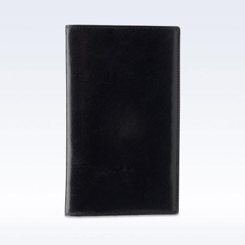 Black Richmond Leather Tall Coat Wallet