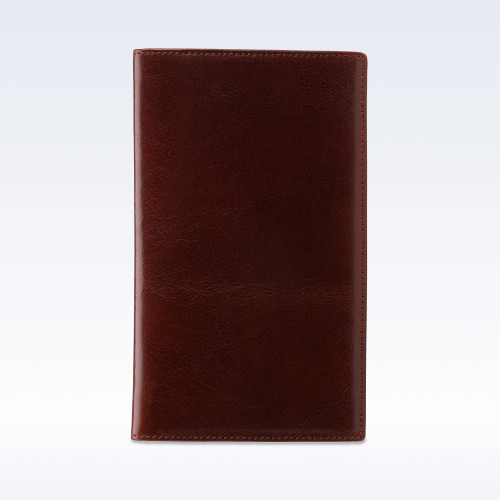 Chestnut Richmond Leather Tall Coat Wallet
