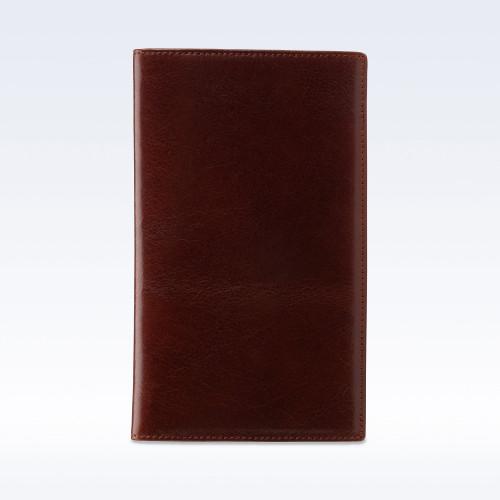 Chestnut Richmond Leather Tall Coat Wallet