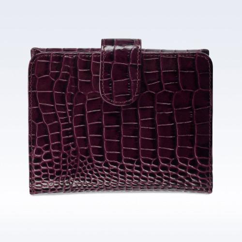 Purple Croc Leather Sophia Ladies Purse