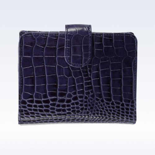 Navy Croc Leather Sophia Ladies Purse