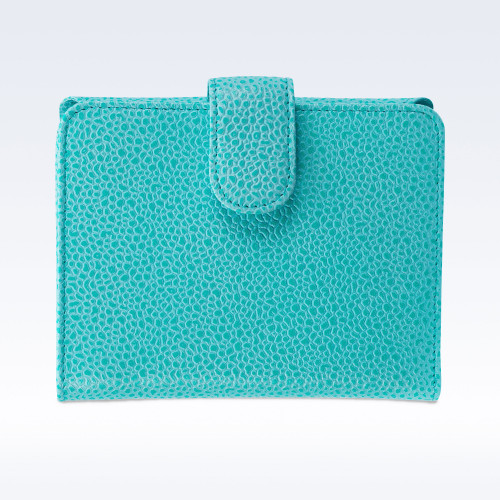 Aqua Caviar Leather Sophia Ladies Purse