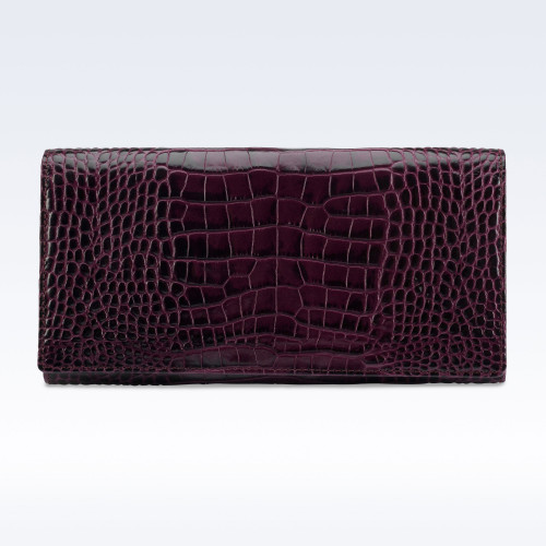 Richmond Ladies Purse in Purple Croc Leather