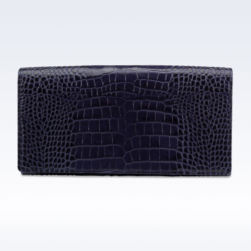 Richmond Ladies Purse in Navy Croc Leather