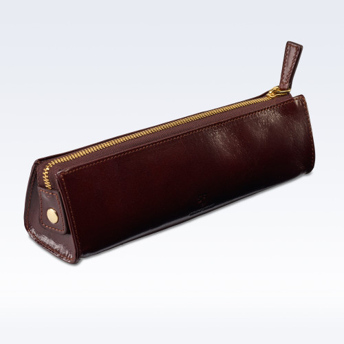Chestnut Richmond Leather Cosmetics or Stationery Case