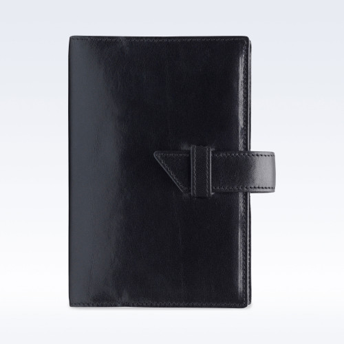 Black Richmond Leather A6 Journal with Replaceable Notebook