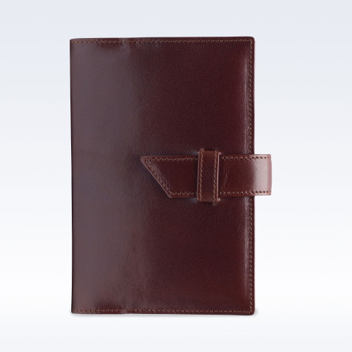 Chestnut Richmond Leather A6 Journal with Replaceable Notebook