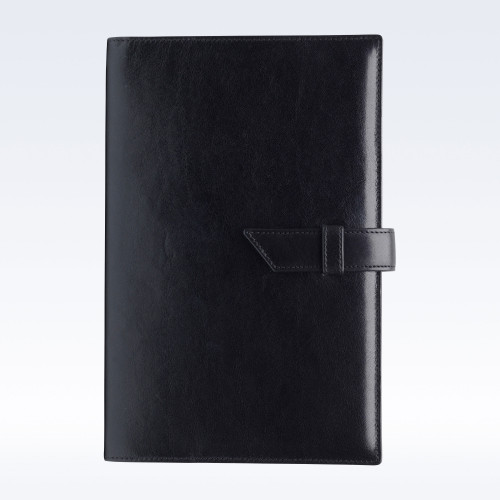 Black Richmond Leather A5 Journal with Replaceable Notebook
