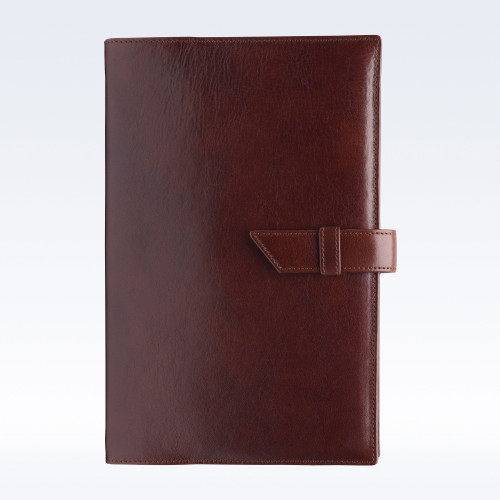 Chestnut Richmond Leather A5 Journal with Replaceable Notebook
