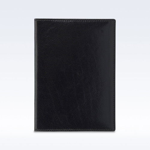 Black Richmond Leather Travel Passport Wallet