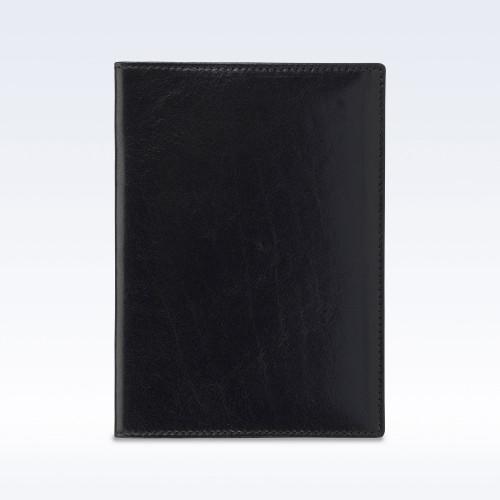 Black Richmond Leather Travel Passport Wallet
