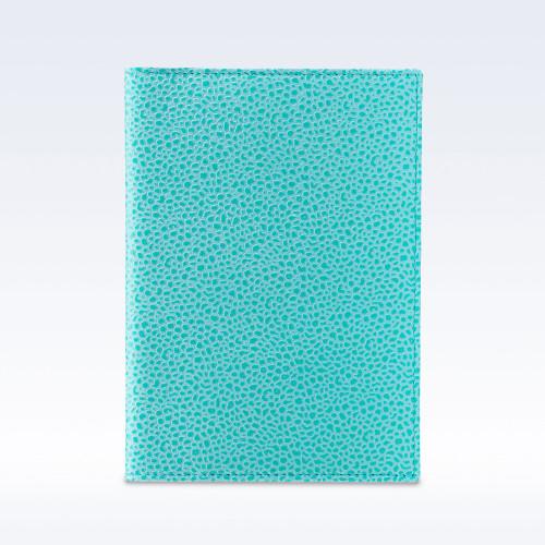 Aqua Caviar Leather Travel Passport Wallet